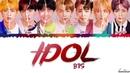 BTS 방탄소년단 'IDOL' Feat NICKI MINAJ Lyrics Color Coded Han Rom Eng