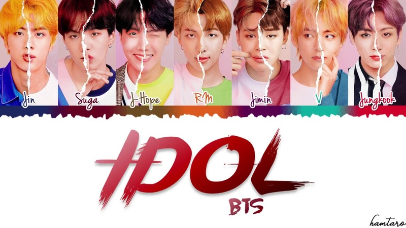 BTS (방탄소년단) – 'IDOL' (Feat NICKI MINAJ) Lyrics [Color Coded_Han_Rom_Eng]