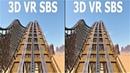 VR 3D Roller Coaster 7 Американские Горки видео для VR очков 3D SBS