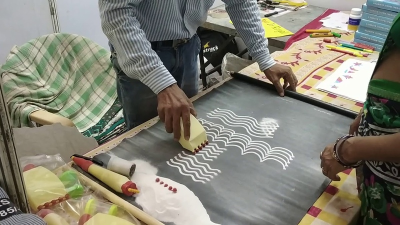 Rangoli Making: Rangoli maker, an instrument kit to make rangoli very easily
