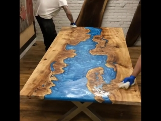 Table made of epoxy resin by Rustic Designs #Other@industrial.design