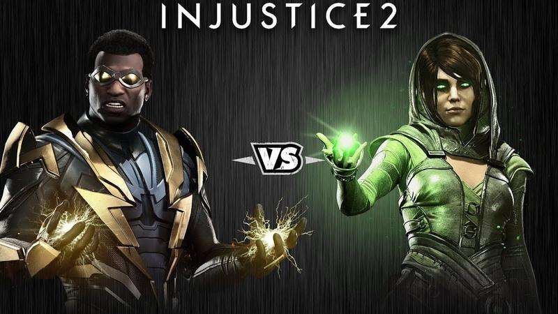 Injustice 2 Чёрная Молния против Чаровницы Intros Clashes rus
