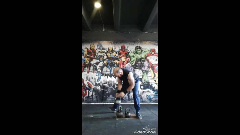 Силовой номер Гончарова Гири - 16kg12kg8kg