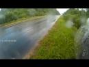 Заверение маршрута попал под дождь