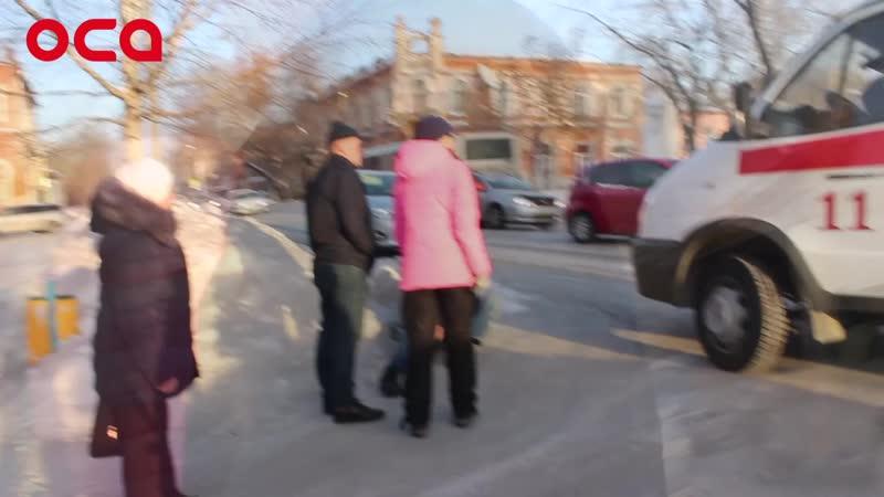 На ул. Ленина автоледи наехала на пьяного пешехода