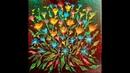 (116) Acrylic Swipe Brown Flowers Arteza Product Coupon Code w/Floetrol with Sandra Lett 062318