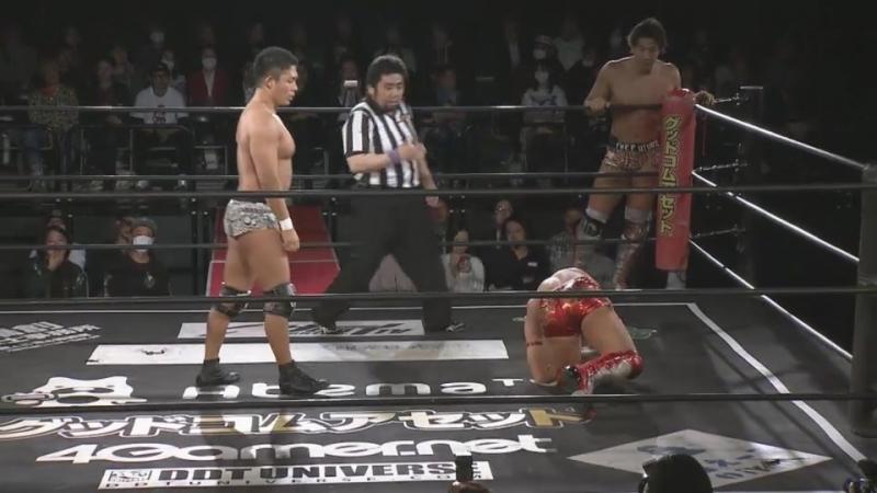 KUDO, Akito, MAO vs. Konosuke Takeshita, Soma Takao, Shunma Katsumata (DDT - Saki Akai Produce DDT Collection)