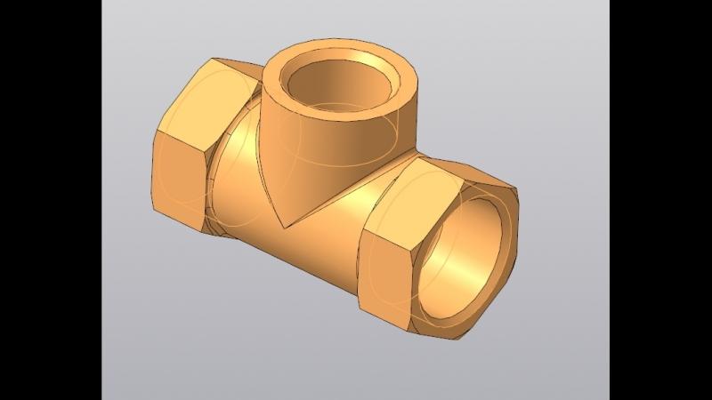 Построение 3d-модели детали Корпус (17.1)
