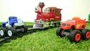 Blaze e Crusher giocano con il treno. Nuovi episodi per bambini