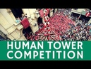 HUMAN TOWER competition (Castell): breathtaking festival in Tarragona, Spain