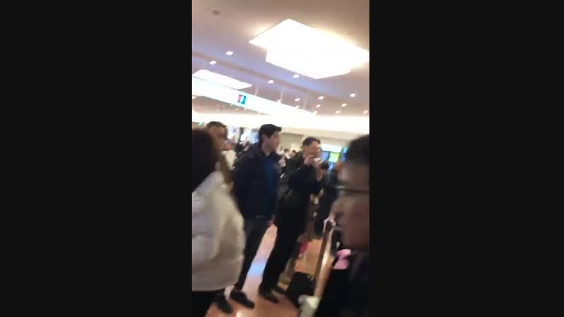 2018.01.15 PINKFANTAS HND 하네다공항 일본입국 - 羽田 入国 - 핑크판타지 PINKFANTASY - - お迎えに驚いてました - 明日から27日ま