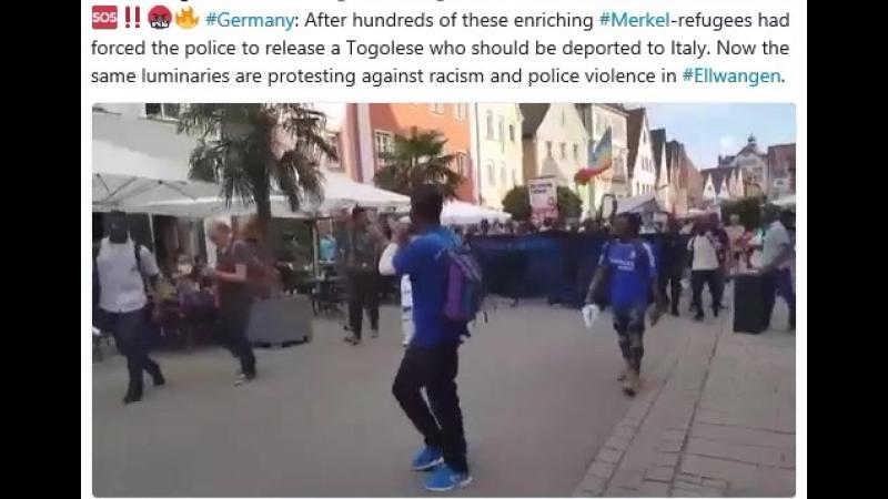 Nigger mit Fahnen