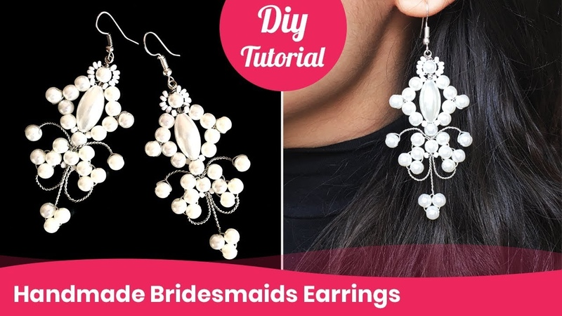 How to Make Bridesmaids Earrings. DIY Wedding Accessory Ideas.