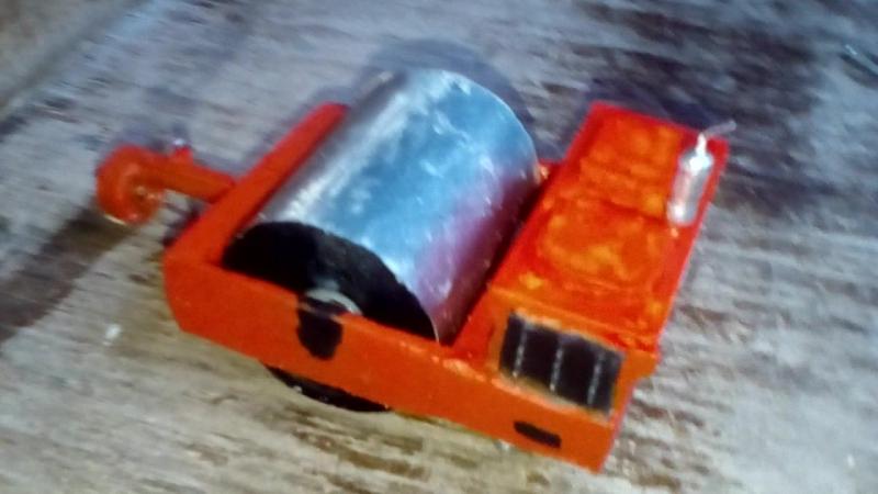 Прицепной вибрационный каток ду-94 в масштабе 1:43
