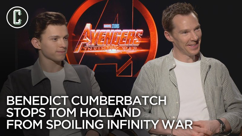 Watch Benedict Cumberbatch Keep Tom Holland From Spoiling 'Avengers: Infinity War'