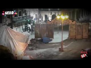 Мистерио на съёмочной площадке «Вдали от дома»