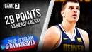 Nikola Jokic Full Highlights in 2019 WCSF Game 7 Nuggets vs Blazers - 29 Pts, 13 Rebs, 4 Blks!