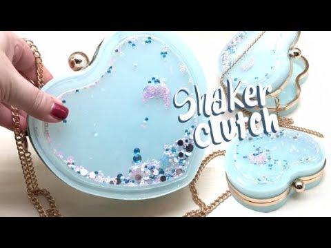 Heart Shaker Clutch (handbag)- Miniature Sweet kit- Resin- DIY