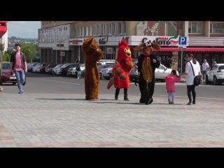 Живые куклы на площади, площадь Ленина, город Орёл