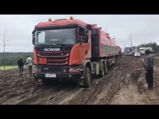 Участок федеральной трассы Колыма в Чурапчинском улусе