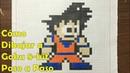 Cómo Dibujar a Goku en 8-bit o Pixel Art (Dragon Ball Super) TUTORIAL PASO A PASO!