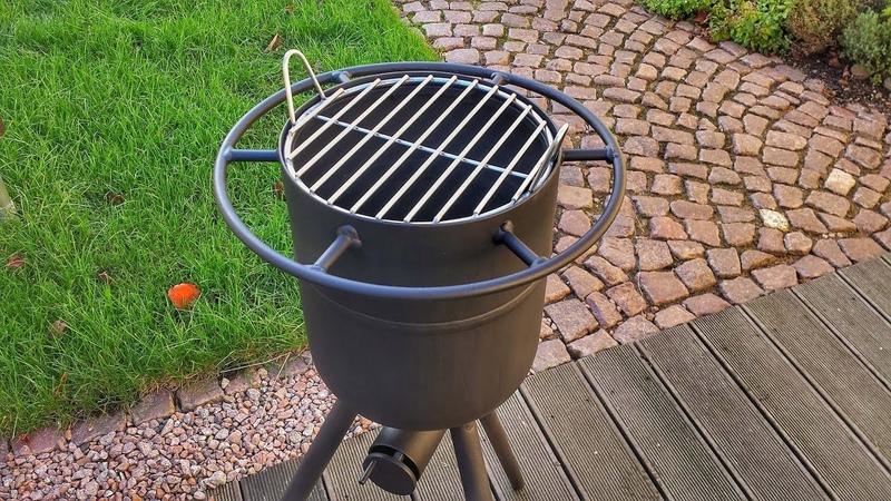 2 in 1 🔥 Feuertonne und Grill selber bauen DIY