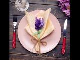 Если вы сервируете праздничный стол, без колец для салфеток не обойтись!
