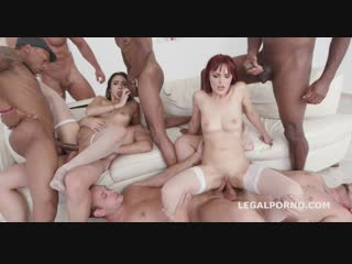 Gio774 - dominica phoenix , lilly hall - dap, interracial, anal, asslicking, rimming, gape, a2m, lingerie