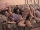 Catfight on a couch