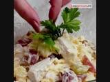 Салат с курицей и виноградом.Пальчики оближешь.