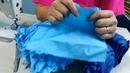 Tapete na medidas de 89 cm2 em retalhos de tecidos com biquinhos flor da Sarah