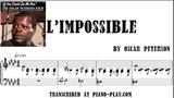 Oscar Peterson - L'Impossible transcription in PDF, MIDI