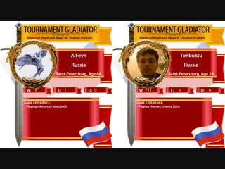 #42. Heroes 3. SoD. AlFeyn vs Timbuktu. Grand Final. Турнир гладиатор! Arena FBA