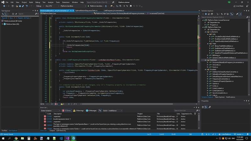ПлатформаСвязей 0.1.0: Хранение частот для OptimalVariantConverter в Dictionary