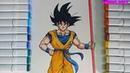Hướng dẫn vẽ goku fom mới cực dễ HERO ART