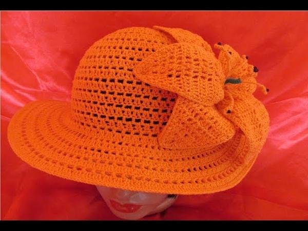 Pălărie de vară, croșetată
