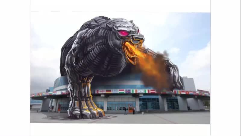 Арену «Трактор» в Челябинске захватил огромный монстр