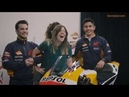 Márquez and Pedrosa: the two Repsol Honda Team riders 'photobomb' fans in social media event.