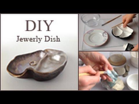DIY How to make a Jewelry organizer dish bowl Papier mâché HD