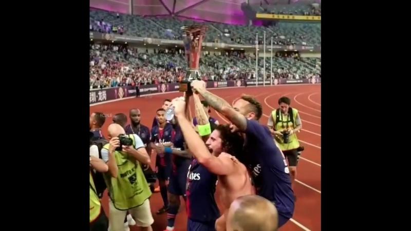 @psg vence o @asmonaco por 4 a 0 e leva Supercopa Francesa @neymarjr! ⚽