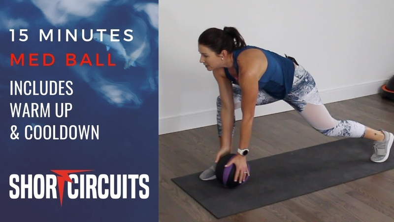 15 MINUTES MEDICINE BALL CARDIO STRENGTH INCLUDING WARMUP AND COOLDOWN