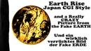 Flache Erde Flat Earth CGI Earth Rise Japan Style a Hidden Picture und ein verstecktes Bild