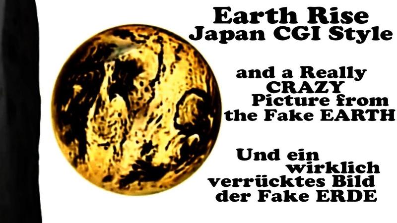 Flache Erde -Flat Earth CGI - Earth Rise Japan Style a Hidden Picture und ein verstecktes Bild