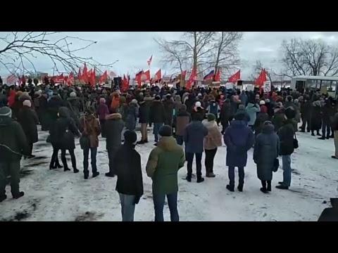 Беломорканал Митинг против Московского мусора Северодвинск 24 февраля