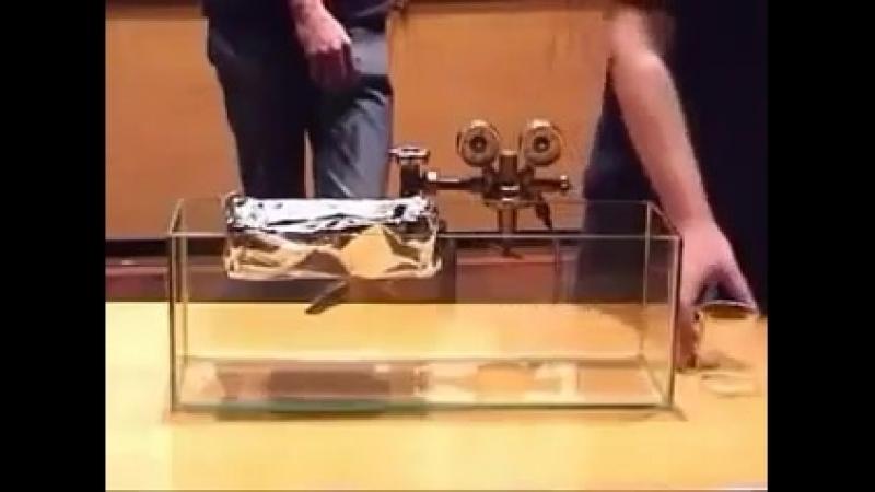 Газ, способный удерживать твёрдые предметы