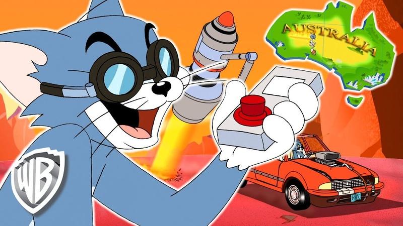 Tom Jerry   Tom Cuts Australia in Half!   WB Kids