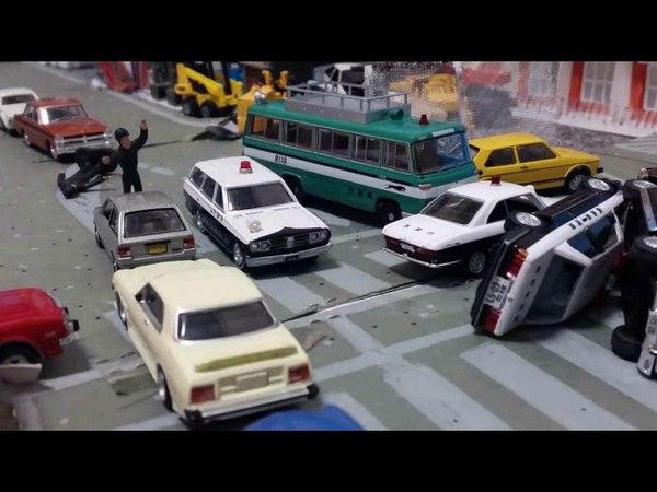 【トミカ】ちょっと変なカーチェイス63【60組織争い 後編】toy cars animation