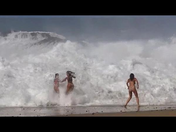 شاهد أقوى واكبر الأمواج المهيبة التي فاجأ 15