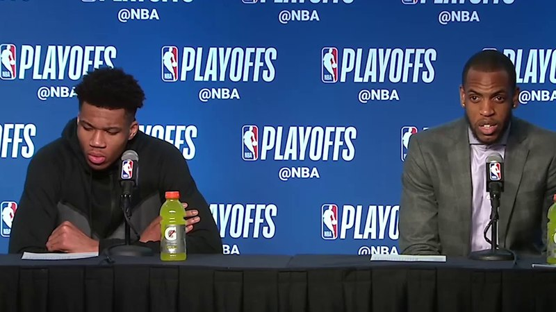 Giannis Antetokounmpo Khris Middleton Postgame Interview / Bucks vs Celtics Game 4