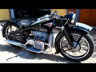 📹 от подписчика: заводим мотоцикл zundapp k800, 1937 года